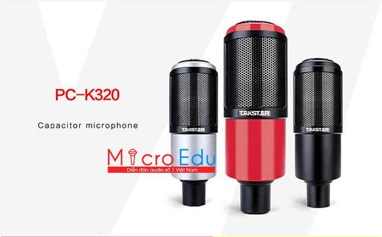 Micro thu âm Takstar PC K320 siêu sang, live stream chuyên nghiệp