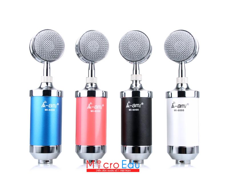 Micro thu âm Ami MI-6000 thiết kế đẹp âm thanh có gì nổi bật?