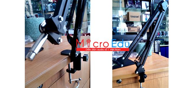 Chân micro kẹp bàn stand NB-35 sẽ giúp thu âm thuận tiện hơn
