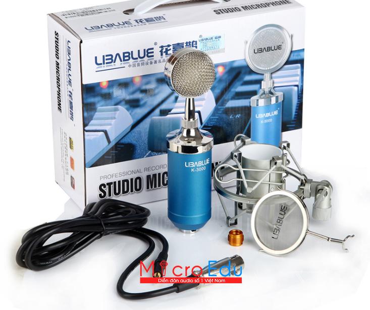 Micro thu âm Libablue K3000 live stream âm thanh có thanh thót?