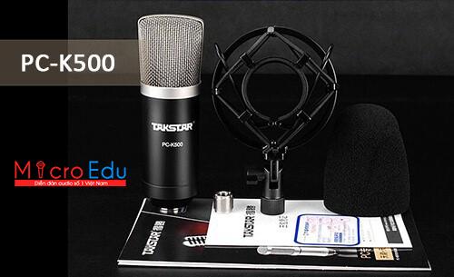 Micro thu âm TAKSTAR PC K500 Phiên Bản Hoàn Hảo của TAKSTAR