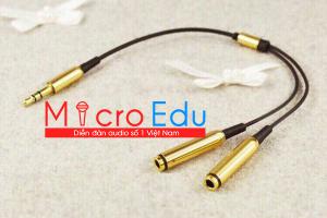 Dây chia đồng bộ 2 tai nghe và chia micro chất lượng cao