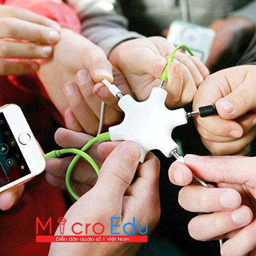 Dây chia tai nghe và chia micro 1 ra 5 tiện lợi, chất lượng