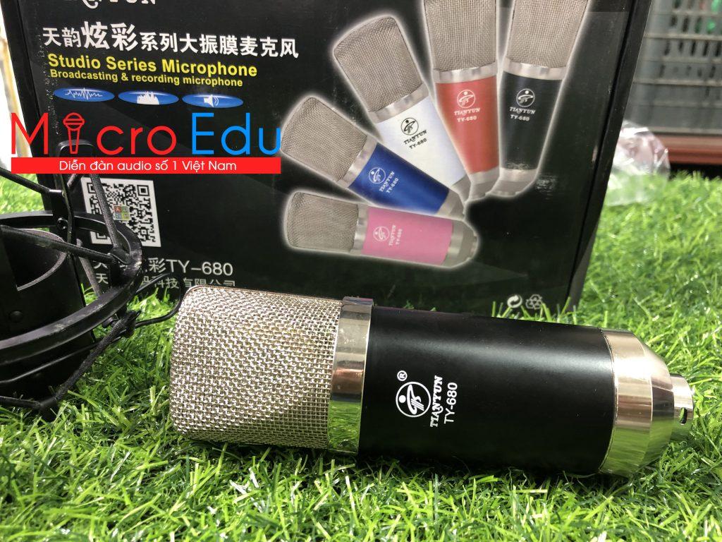 Micro thu âm chuyên nghiệp TIANYUN TY 680 cao cấp,chất lượng