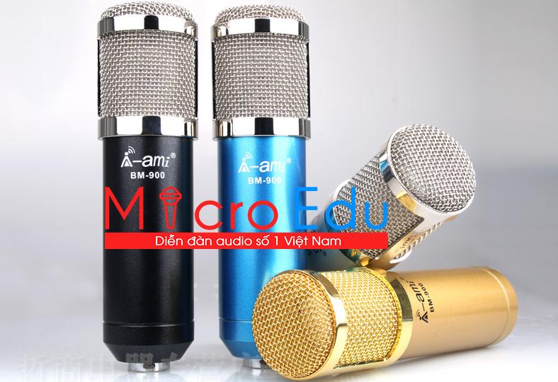 Micro thu âm AMI BM900 giá rẻ có đáng để mua hát live stream, thu âm tại nhà?